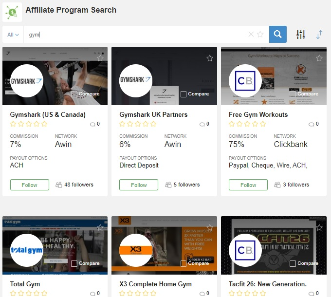 WA Affiliate Programs Research Tool