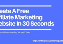How To Create A Free Affiliate Marketing Website in 30 Seconds