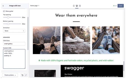 CSS Customization Premium Shopify Theme