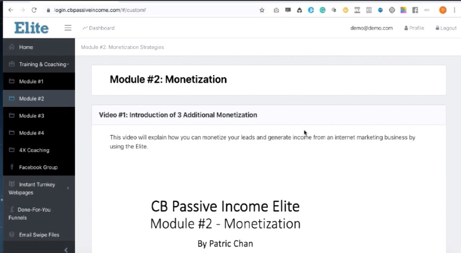 CB Passive Income Elite Training Modules