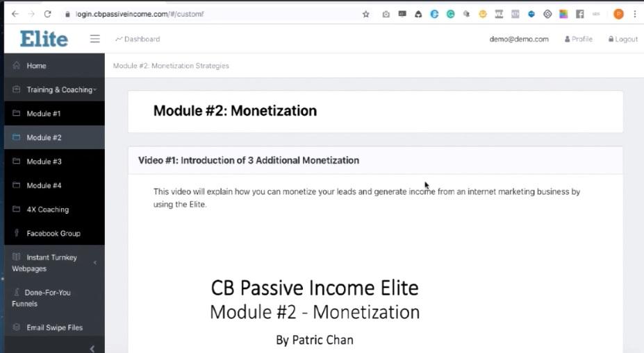 CB Passive Income Elite Training Modules