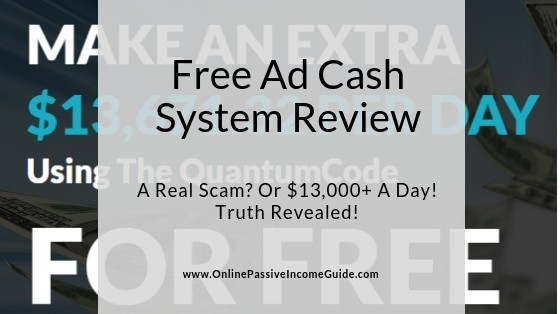 Free Ad Cash System Scam Review