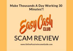 Easy Cash Club Review - A Scam Or Legit