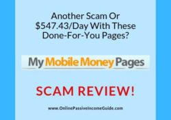 My Mobile Money Pages Review - A Scam Or Legit
