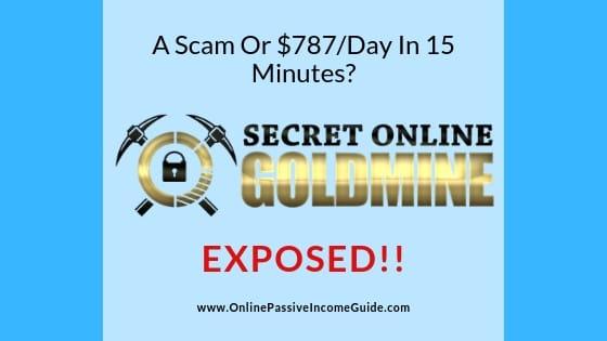 Secret Online Goldmine Review - A Scam Or Legit