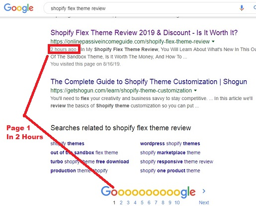 Google Page 1 Ranking In Two Hours