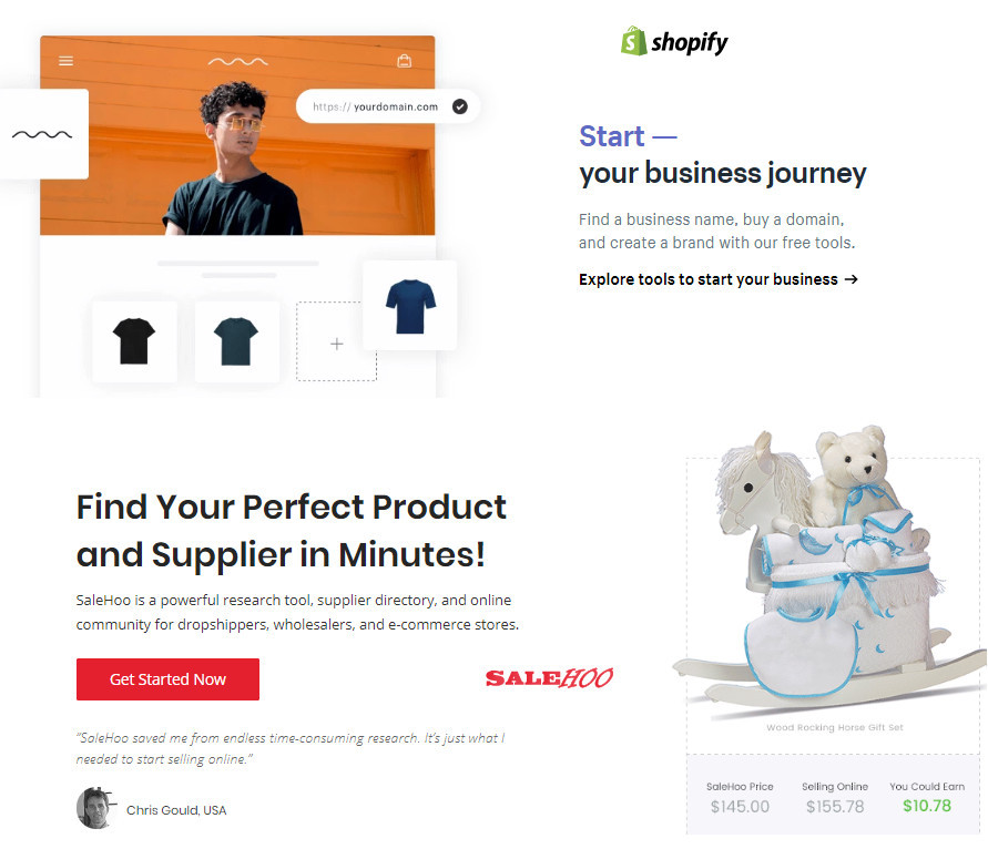 Difference Between Salehoo And Shopify