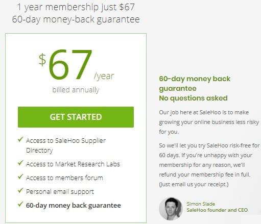 SaleHoo Directory Cost