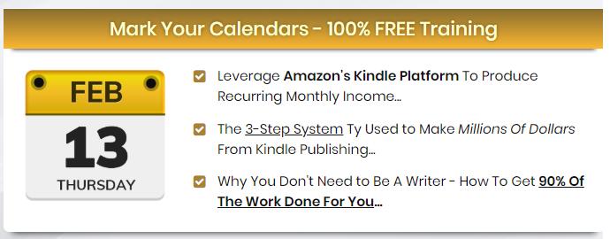Join Kindle Cash Flow Free Course