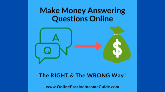 Earn Money Answering Questions Online