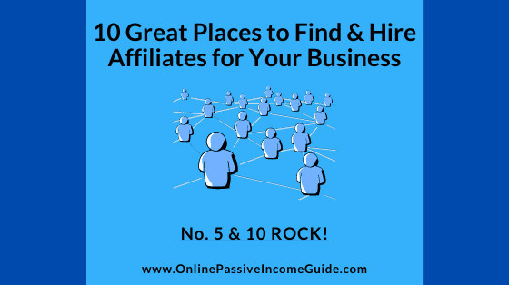 Where to Find Affiliate Marketers