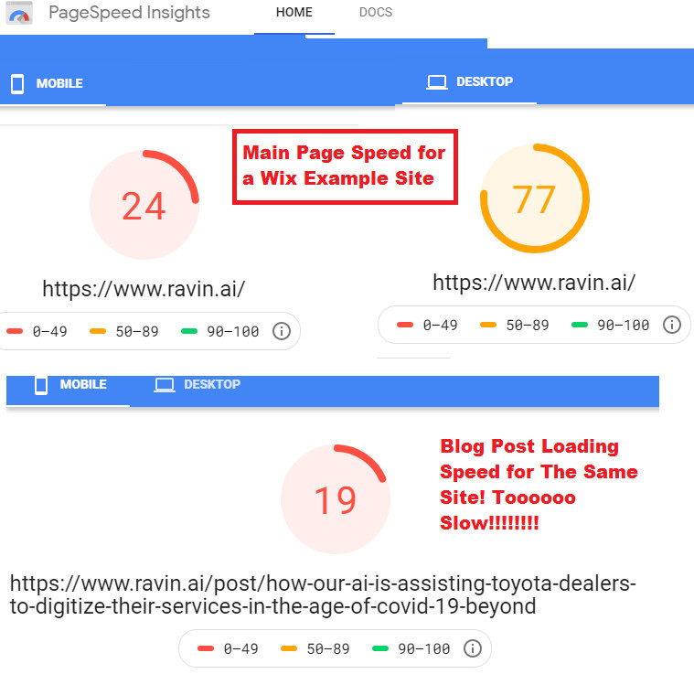 Wix Blog Speed